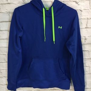 Under Armour Semi-Fitted M Blue Yellow Hoodie